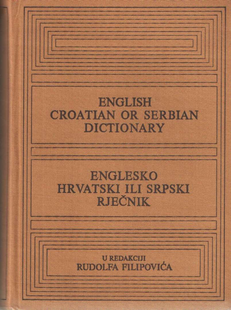 Englesko-hrvatski ili srpski rječnik