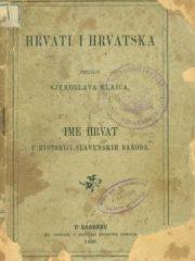 Hrvati i Hrvatska I. Ime Hrvat