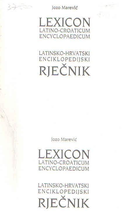 Latinsko-hrvatski enciklopedijski rječnik 1-2