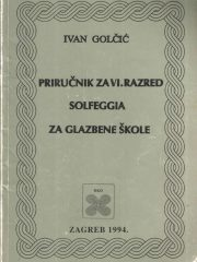 Priručnik za VI. razred solfeggia za glazbene škole