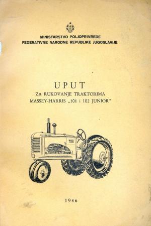 Uput za rukovanje traktorima Massey-Harris