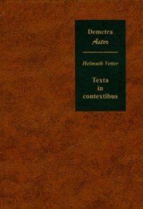 Texta in contextibus - prilozi hermeneutičkoj fenomenologiji