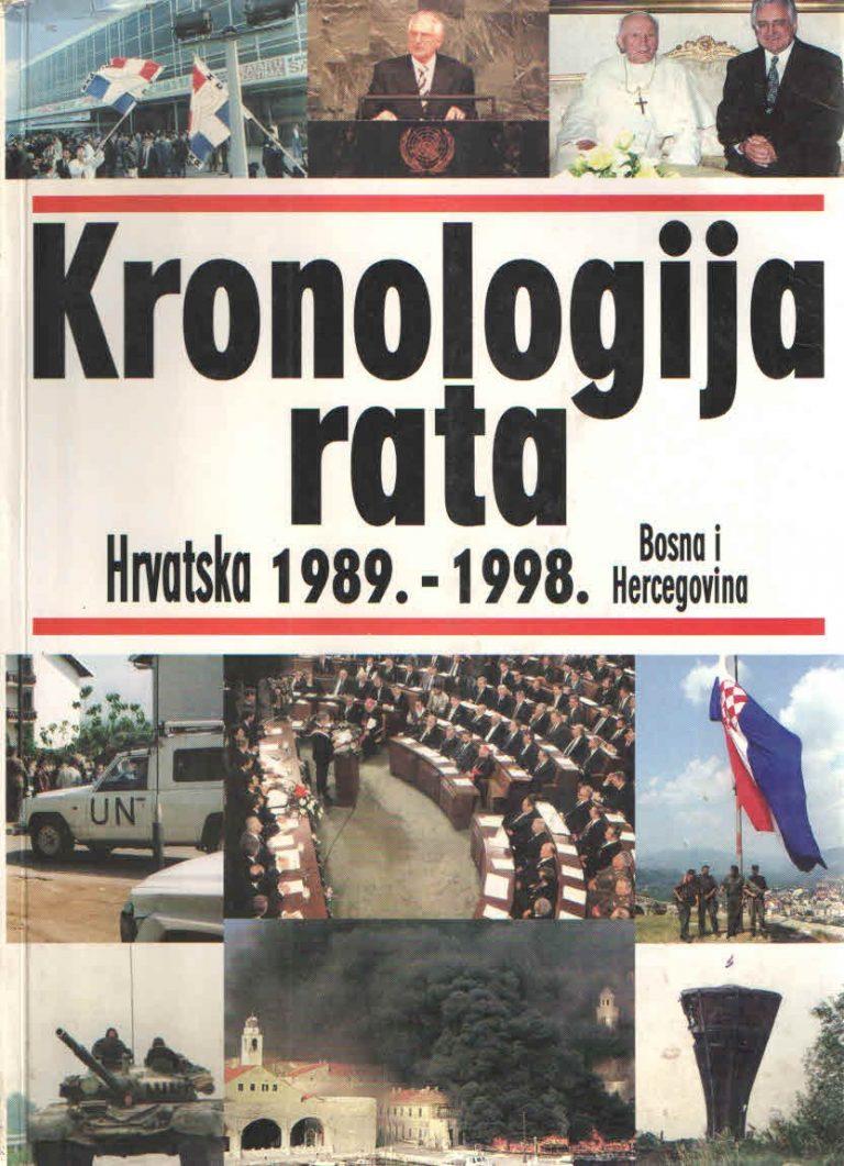 Kronologija rata 1989–1998.