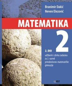MATEMATIKA 2 - 2. DIO : udžbenik i zbirka zadataka za 2. razred prirodoslovno-matematičke gimnazije