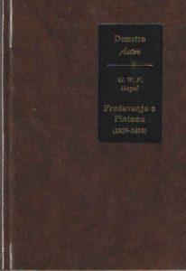 Predavanja o Platonu (1825-1826)
