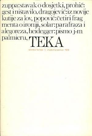 Teka (tekstovi/kritika) 1