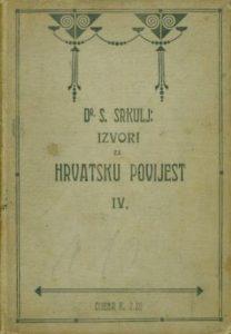 Izvori za hrvatsku povijest IV.