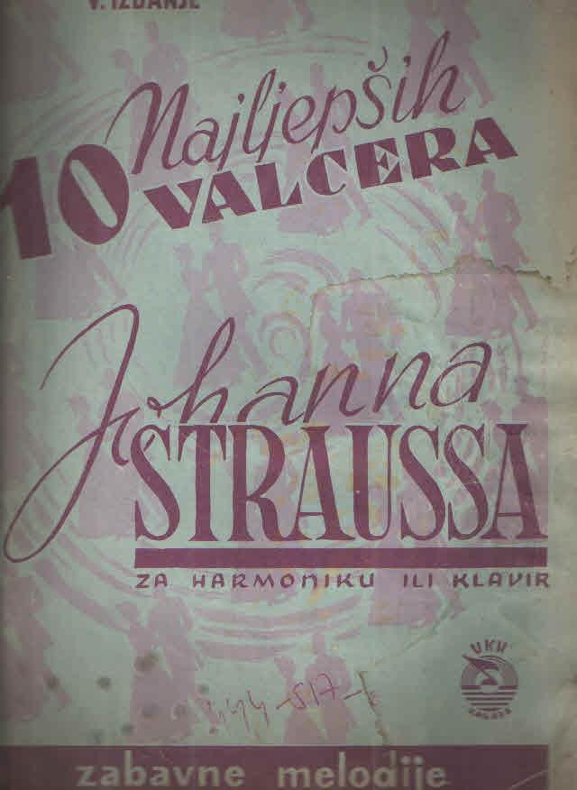 10 najljepših valcera Johanna Straussa za klavir ili harmoniku