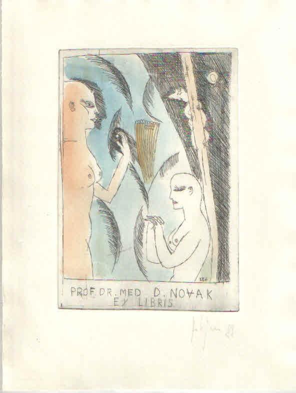 Ex libris dr. Drage Novaka