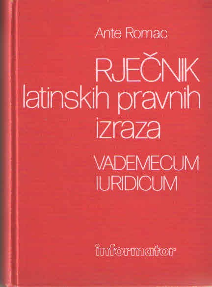 Rječnik latinskih pravnih izraza