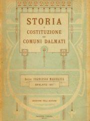Storia e costituzione dei comuni Dalmati