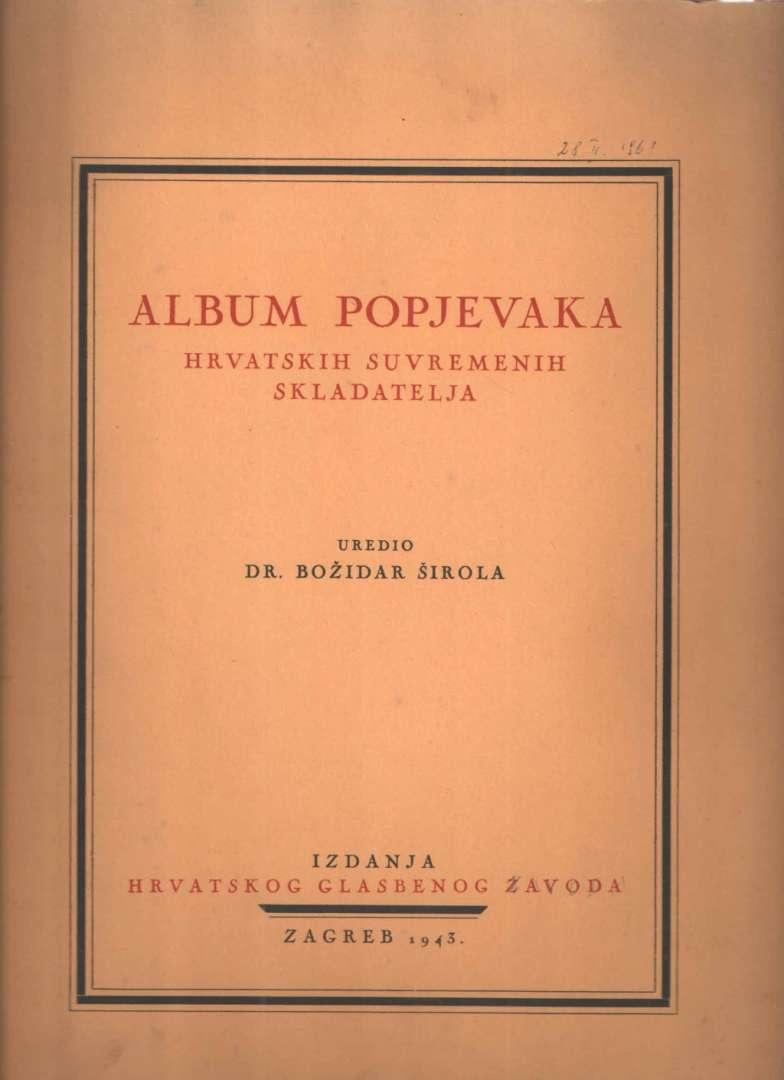 Album popjevaka hrvatskih suvremenih skladatelja